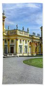 Entrance To Wilanow Palace - Warsaw Bath Towel