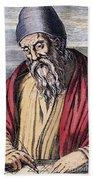 Euclid, Ancient Greek Mathematician Bath Towel