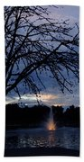 Evening Falls On Youth's Fountain Hand Towel