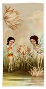 Fairies In The Garden Bath Towel