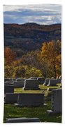 Fairview Cemetery In Autumn Bath Towel