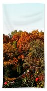 Fall Foliage And Roses Bath Towel