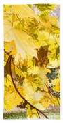 Fall Leaves Abstract Bath Towel