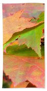 Fall Maple Leaves Bath Towel