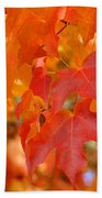 Fall Tree Leaves Art Prints Orange Red Autumn Bath Towel