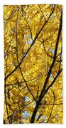 Fall Trees Art Prints Yellow Autumn Leaves Bath Towel