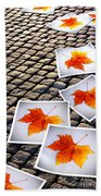 Fallen Autumn  Prints Bath Towel