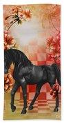 Fantasy Black Horse Bath Towel