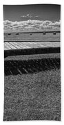 Farm Wagon In A Field On Prince Edward Island Bath Towel
