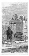 Farming: Threshing, 1851 Bath Towel