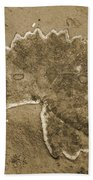 Faux Fossil Bath Towel