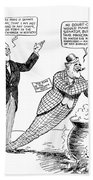 F.d. Roosevelt Cartoon Bath Towel