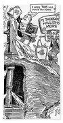 F.d.r. Cartoon, 1930s Bath Towel