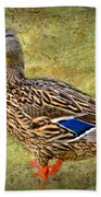 Female Mallard Duck Bath Towel