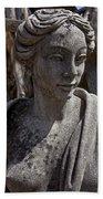 Female Statue Bath Towel