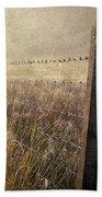 Fence And Field. Trossachs National Park. Scotland Bath Towel