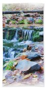 Fern Spring In Autumn Bath Towel