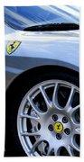 Ferrari Wheel And Emblems Bath Towel