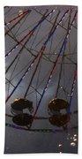 Ferris Wheel Reflection Bath Towel
