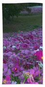 Field Of Flowers Along The Highway  Bath Towel