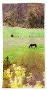 Field Of My Dreams Horses Bath Towel