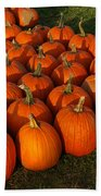 Field Of Pumpkins Bath Towel