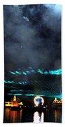 Fire Earth Water Meet Lasers Bath Towel