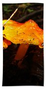 Fire In The Forest - Hygrocybe Cuspidata Bath Towel