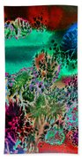 Fire Storm Abstract Bath Towel