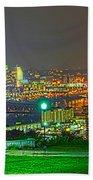Fireworks Over The City Skyline Hand Towel