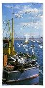 Fishing Boat Bath Towel