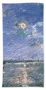 Fishing Boats By Moonlight Bath Towel