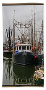 Fishing Boats In Steveston Group Photo Bath Towel