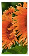 Flaming Sunflowers Bath Towel