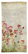 Floral Pattern Bath Towel