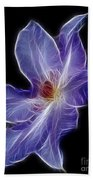 Flower - Clematis - Abstract Bath Towel