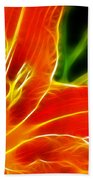 Flower - Lily 1 - Abstract Bath Towel