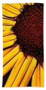 Flower - Yellow And Brown - Abstract Bath Towel