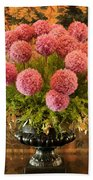 Flower Arrangement Chateau Chenonceau Bath Towel
