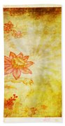 Flower Pattern Bath Towel