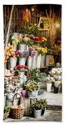 Flower Shop Bath Towel