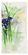 Flowers And Butterfly Bath Towel