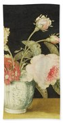 Flowers In A Delft Jar  Bath Towel