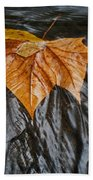 Flowing Leaf Bath Towel
