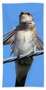 Fluttering Swallow Bath Towel