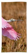 Flying Across The Wetlands Bath Towel