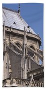 Flying Buttress At Nortre Dame Cathedral Bath Towel