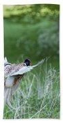 Flying Pheasant Bath Towel