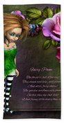 Forest Fairy Jn The Rose Garden Bath Towel