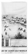 Fort Mchenry, 1862 Bath Towel